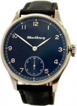 Wartburg mechanische Herrenuhr 17 Steine Horween Pferdeleder Uhrband 44mm