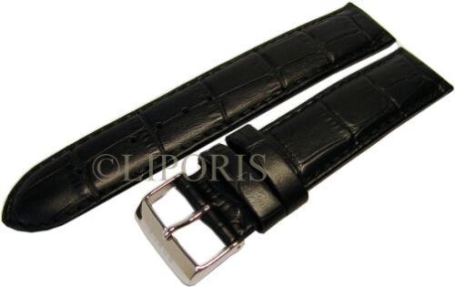 original Garde / RUHLA Herren Uhrenarmband Leder schwarz Anstoß 20mm