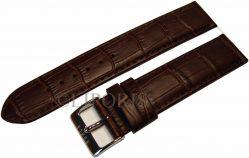 original Garde RUHLA Uhrenarmband Leder Kroko Prägung braun Anstoß 20mm