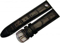 original Riedenschild Herren Uhrenarmband Leder Krokoprägung schwarz 22mm