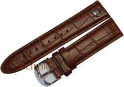 original Riedenschild Herren Uhrenarmband Leder braun Krokolook Uhrband 22mm