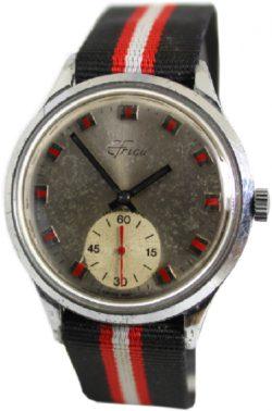 EFrico Herrenuhr swiss made mechanische Uhr mit kleiner Sekunde rot silber