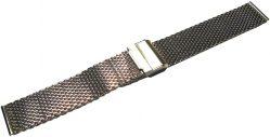 HEKTOR Milanaise Edelstahl dickes Uhrenarmband poliert 18mm 20mm 22mm oder 24mm