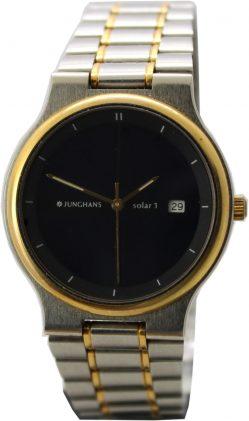 Junghans Solar Uhr mit Datum Metallband Edelstahl