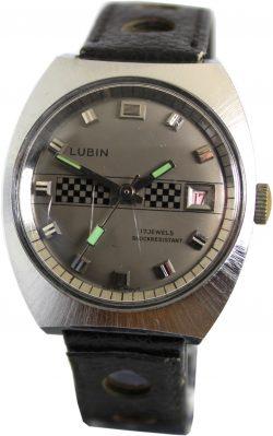 Lubin mechanische Herrenuhr im Rallye design mit Datum swiss watch 17 Jewels Handaufzug
