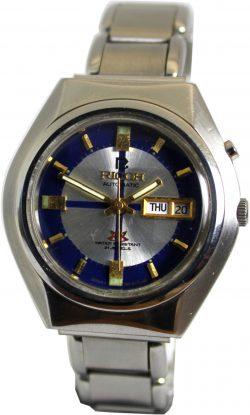 Ricoh Automatic mechanische Herrenuhr 21 Jewels day date Tag und Datum