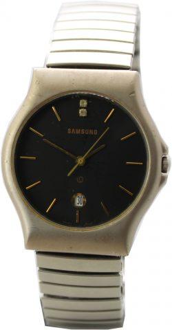 Samsung Datum Quarz Herrenuhr schwarz