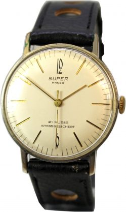 Super Anker 21 Rubis mechanische Herren Armband Uhr