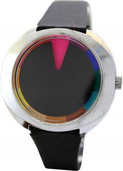 Farbwechseluhr Farbzeit Uhr Scheibenuhr mit wechselnder Zifferblattfarbe bunt mehrfarbig Handaufzug vintage Uhr selten