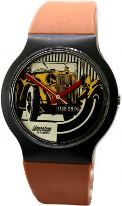 Junghans Youngline Quarz Herren Uhr mit Oldtimer 1138SM06 Motiv vintage