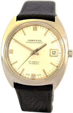 Mirexal superautomatic Herrenuhr Automatik 25 Jewels swiss made Uhr Armbanduhr mit Datum 757-416