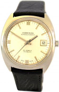 Mirexal superautomatic Herrenuhr Automatik 25 Jewels swiss made Uhr Armbanduhr mit Datum 757-416