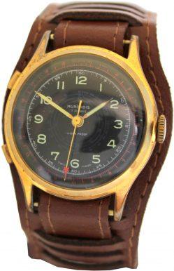Murondis 7 Rubis mechanische vintage Herren Uhr Stoppfunktion classic swiss made mens telemetre stop watch