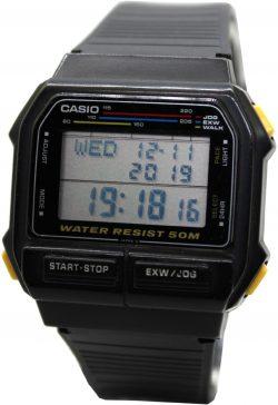 Casio 611 digitale 24 Std h Stopp Alarm Kalender WLK EXW Jog Modus Uhr Herrenuhr schwarz