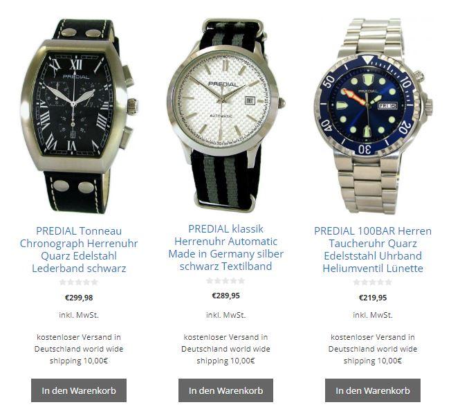 der LIPORIS Uhren shop steht für Produkte hoher Qualität