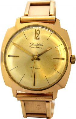 Glashütte GUB Spezimatic 26 Rubis Made in GDR mechanische vintage Herren Uhr 900333 goldplaque