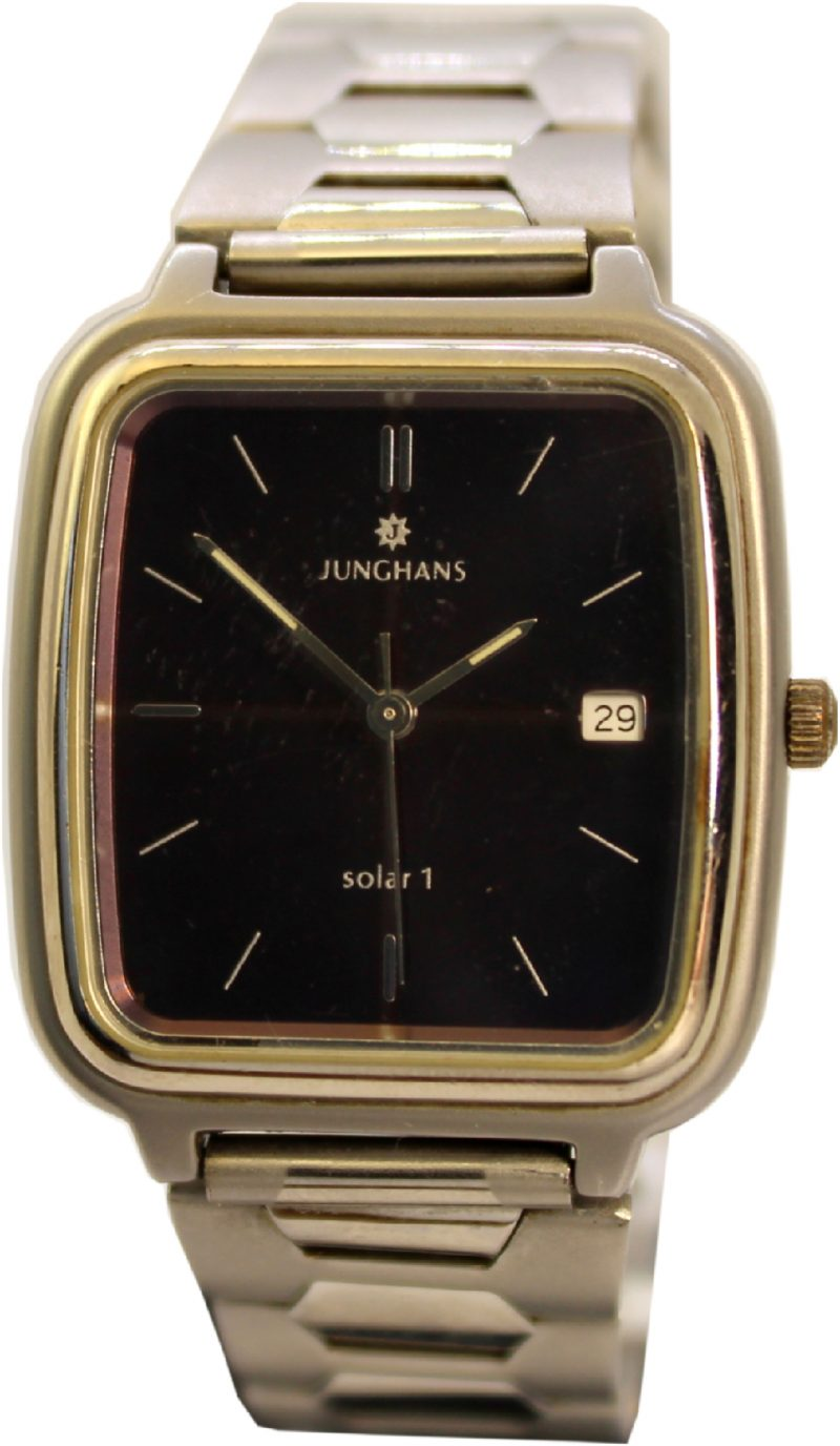 Junghans Solar 1 Herren Armbanduhr Solaruhr mit Datum original Zustand