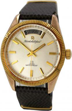 Ricoh Auto Just unisex Armbanduhr 33 Jewels Tag und Datum Gehäuse Indexe goldfarben