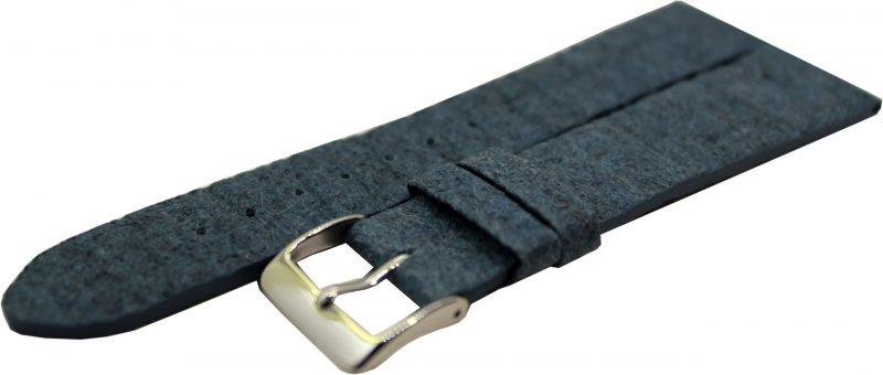 Uhrenarmband aus Ananas - Blattfasern vegan blau 18mm,20mm und 22mm lieferbar