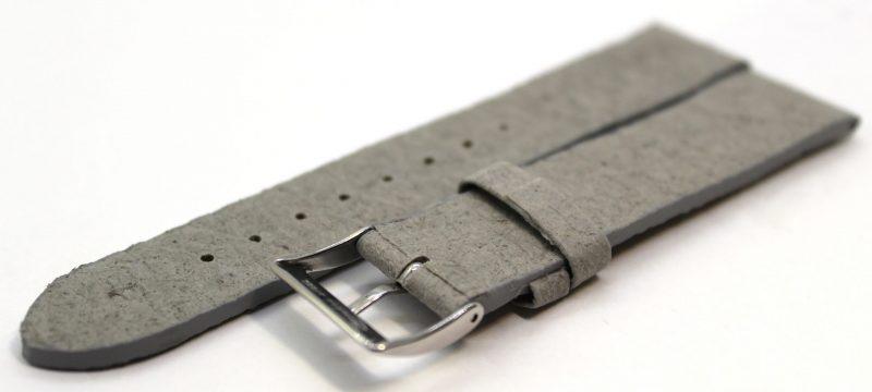 Uhrenarmband aus Ananas - Blattfasern vegan grau 18mm,20mm und 22mm lieferbar