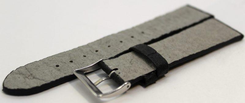 Uhrenarmband aus Ananas - Blattfasern vegan schwarz 18mm,20mm ,22mm lieferbar