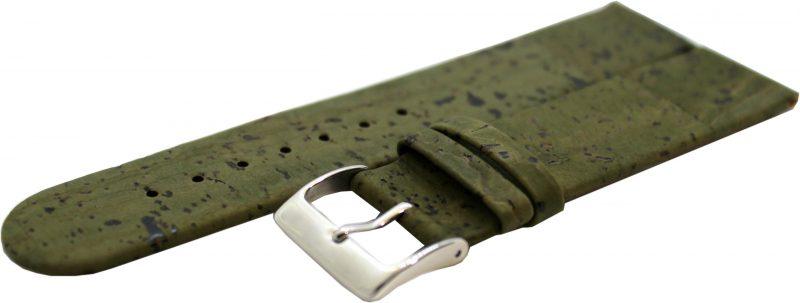 KORK Uhrenarmband aus echtem Kork vegan grün 22mm
