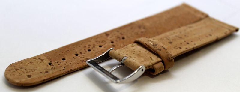 Kork Uhrenarmband aus echtem Kork vegan natur 22mm