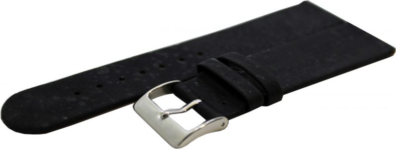 KORK Uhrenarmband aus echtem Kork vegan schwarz 22mm