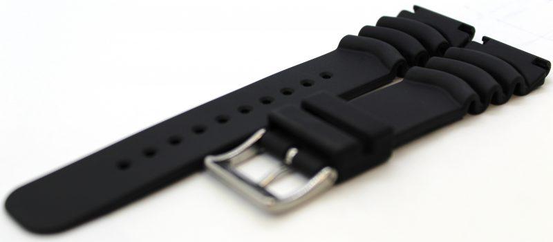 Liporis Herren Taucher Uhrband Taucherband für Taucheruhr schwarz 22mm Anstoß