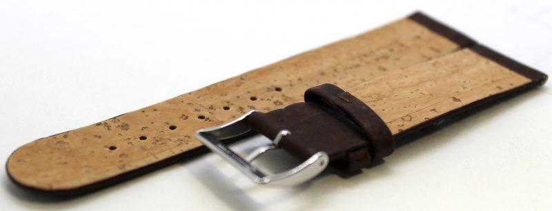 KORK Uhrenarmband aus echtem Kork vegan braun 22mm