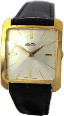Roamer swiss made Herrenuhr gold schwarz mechanische klassische Armbanduhr Handaufzug