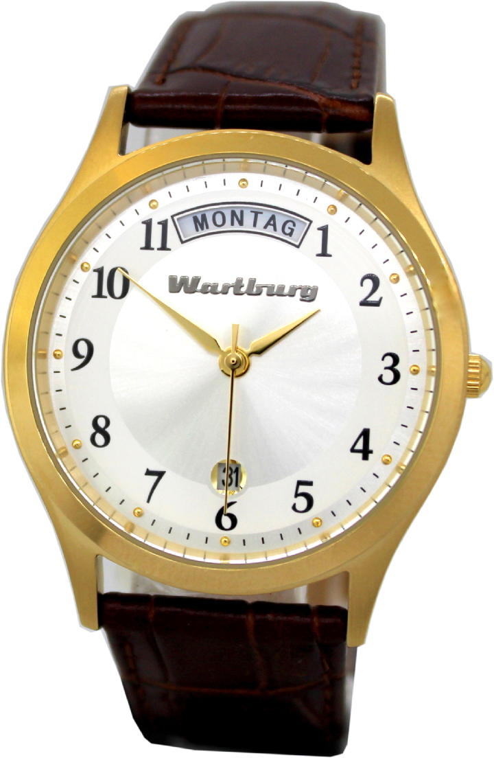 Wartburg Tag Datum Unisex Armbanduhr