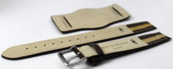 Herren Uhrenarmband Bund mit Unterlage Leder braun 18mm 20mm 22mm