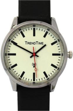 Trend Time Funkarmbanduhr 40mm 3 ATM rund schwarz weiß