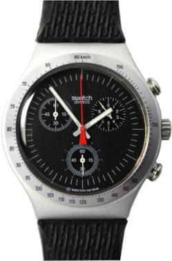 Swatch Irony 1998 Chronograph swiss made Uhr schwarz
