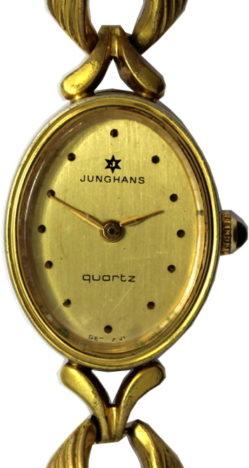Junghans Armbanduhr Damen Made in Germany Quarz Farbe gold gebraucht 19mm x 23mm