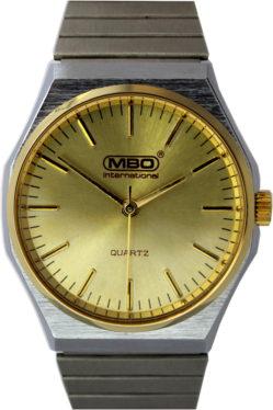 MBO Herren Armbanduhr 3319H Quartz Edelstahl Uhrenarmband 32mm elegant gebraucht