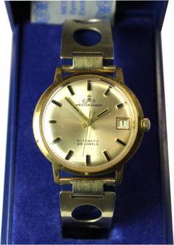 Meister-Anker mechanische Herrenuhr Automatic 25 Jewels vintage Expandro Uhrenarmband Rolled Gold gebraucht 36mm orig.Etui