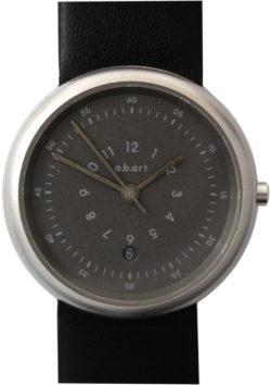 a.b.art Damen Uhr Quarz Datum Lederband neu schwarz 32mm gebraucht