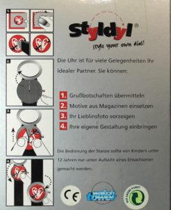 Herrenuhr watch tower eigenes Foto als Zifferblatt stylen Lederband schwarz mit origal Schachtel und Bedienungsanleitung NOS
