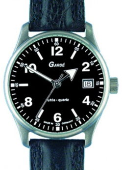 Garde Ruhla Herrenuhr Quarz schwarz mit Datum Classic Universal 37-88