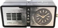 Emes sonochron mini Reise Wecker Uhr Germany Alarm mechanisch zum aufziehen 70mm x 33mm